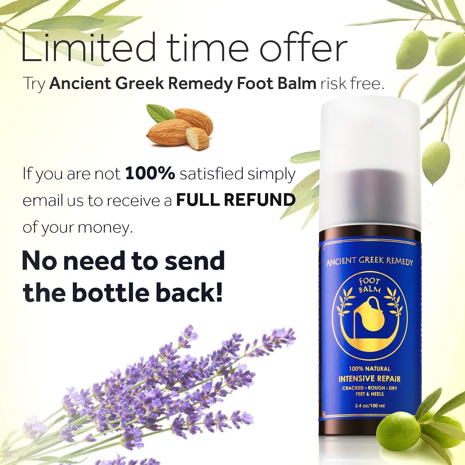 Organic Foot Cream, Dry Feet Moisturizer, Cracked Heel Treatment, Soft Feet Balm, Rough Foot Care Kit, Athletes Foot Lotion, Foot Peel Soften and Eliminator Mask, Callus Remover for Itchy Feet Repair : Beauty