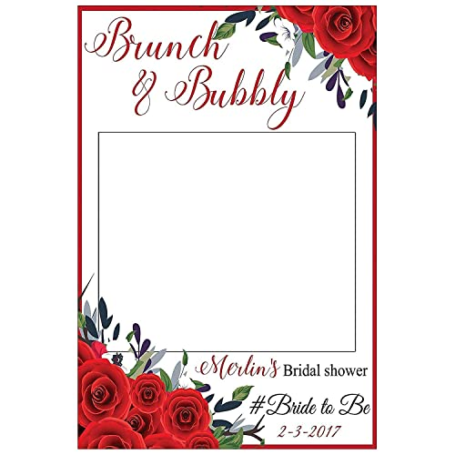Sizes 36x24 Custom Floral Bridal Shower Photo Booth Frame 48x36; Bridal Shower Bridal Shower Photo booth,Floral Handmade Party Supply Photo Booth Props.