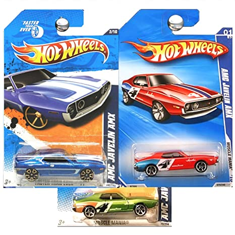 Amazon com: Hot Wheels Muscle Mania AMC Javelin AMX in Green Red and