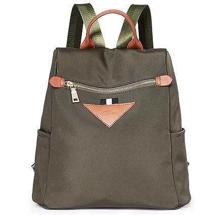 a6eed2f77 Women Backpacks Purse Canvas Fashion Travel Lightweight Anti-Theft Ladies  Rucksack Designer Shoulder Bag army green: Amazon.co.uk: Luggage