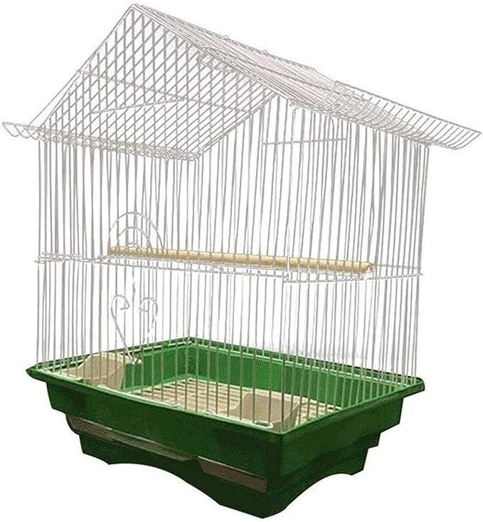NOCEVCX Casas de pájaros/Jaula de pájaros Aves Bird Life Limpia la Jaula de Cultura Económica Jaula de pájaro Adecuado for Loro pequeño gorrión cría 28cm x 21cm Ancho x 38cm de Altura Aves Jaulas fo