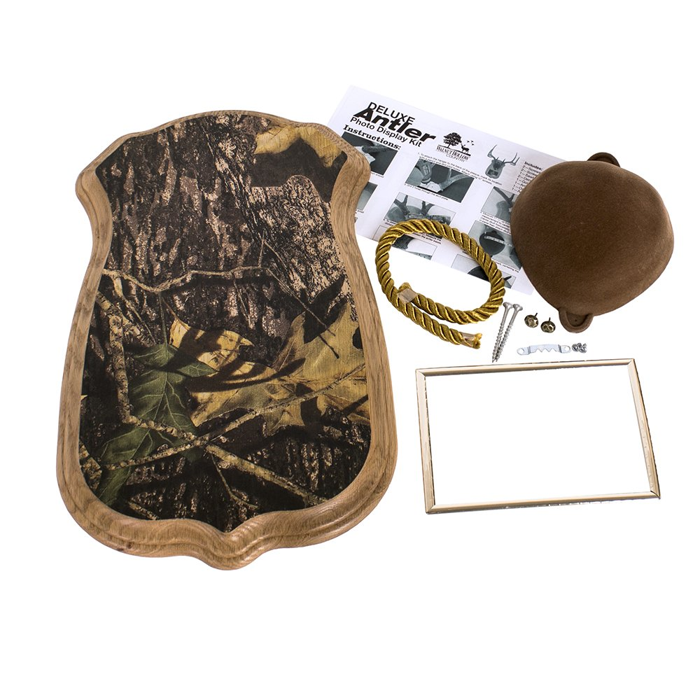 Deer antler mounting kit instructions - Amazon Com Walnut Hollow Country Deluxe Antler Display Kit With Photo Frame Oak With Camo Home Kitchen