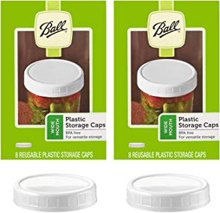 product image for Ball Wide Mouth Plastic Storage Caps, 8-Count per pack (2-Packs)