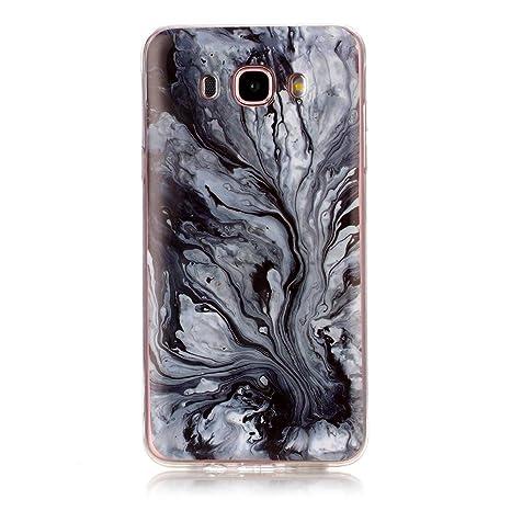 OnlyCase Funda Samsung Galaxy J7 2016,Premium Elegante patrón de mármol TPU Suave Silicón Gel de Alta Resistencia y Flexibilidad Protectora Suave ...