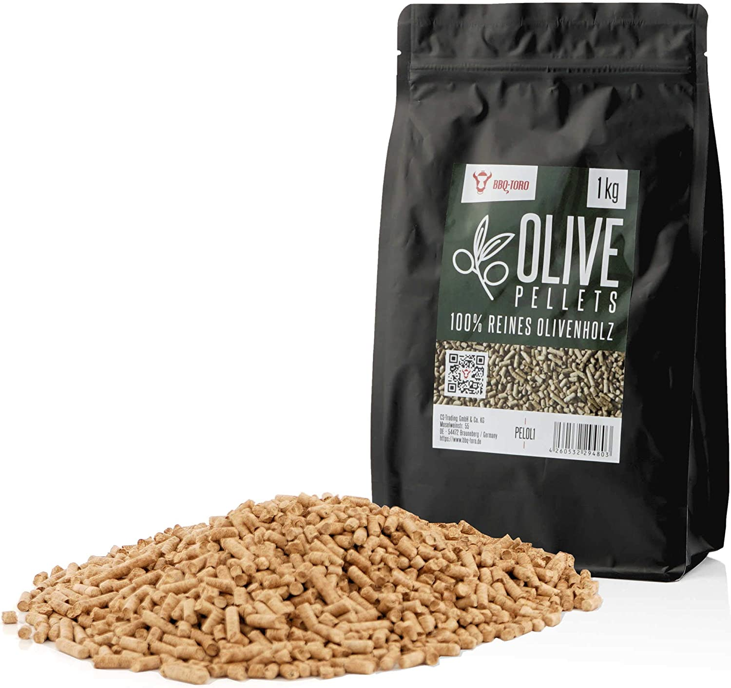 smoker 1 kg 1.0 Grill Pellets Olive pellets for grill pellet pizza oven and heating systems BBQ-Toro Olive Pellets made of 100/% olive wood
