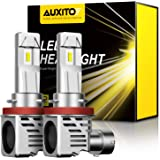 AUXITO H11 H8 H9 LED Headlight Bulbs 12000lm Per Set 6500K Cool White Wireless Headlight LED Bulb, Pack of 2