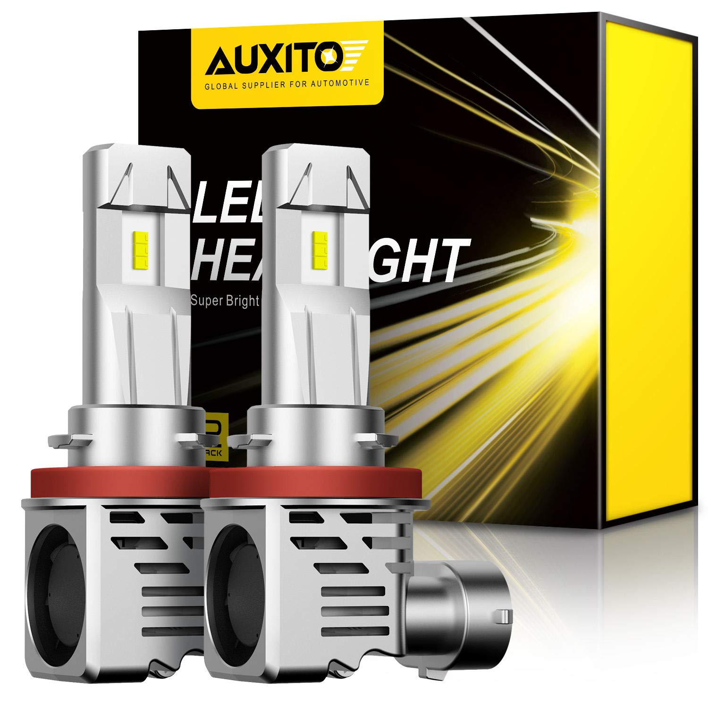 AUXITO H11 H8 H9 LED Headlight Bulbs 12000lm Per Set 6500K Cool White Wireless Headlight LED Bulb