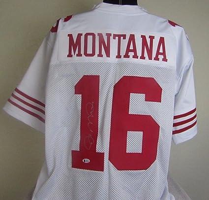 228e812d JOE MONTANA AUTOGRAPHED SIGNED SAN FRANCISCO 49ers JERSEY at ...