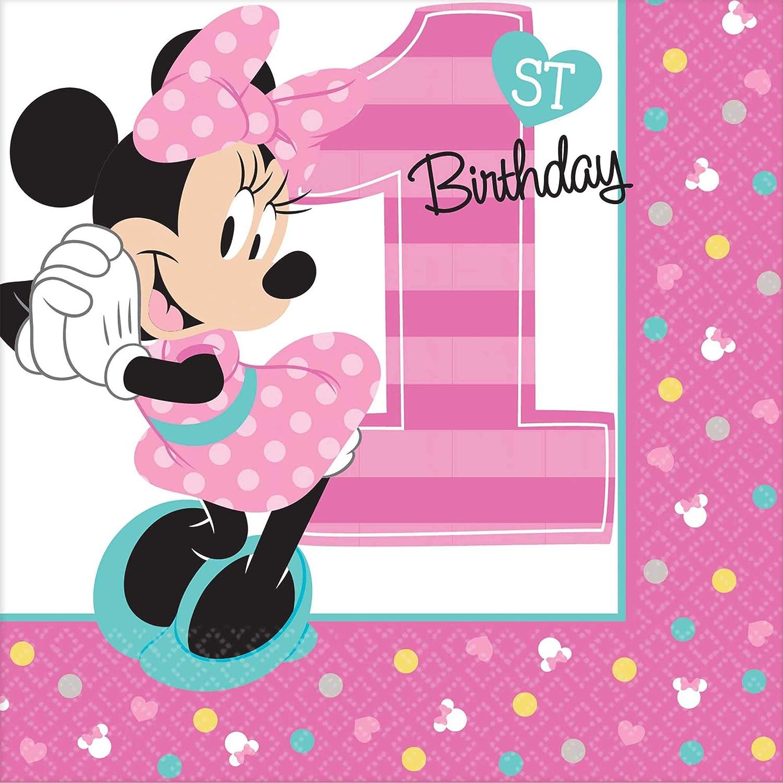 Minnie Mouse 1st Birthday Napkins