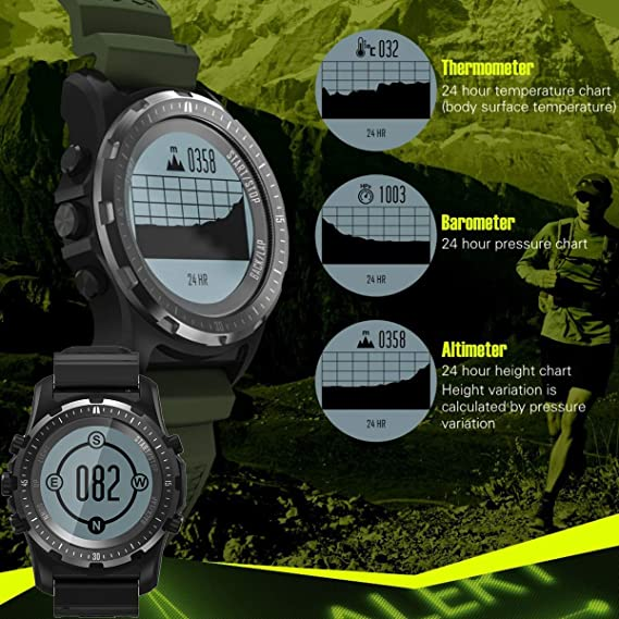 Amazon.com: Reloj inteligente GPS brújula Fitness Tracker ...