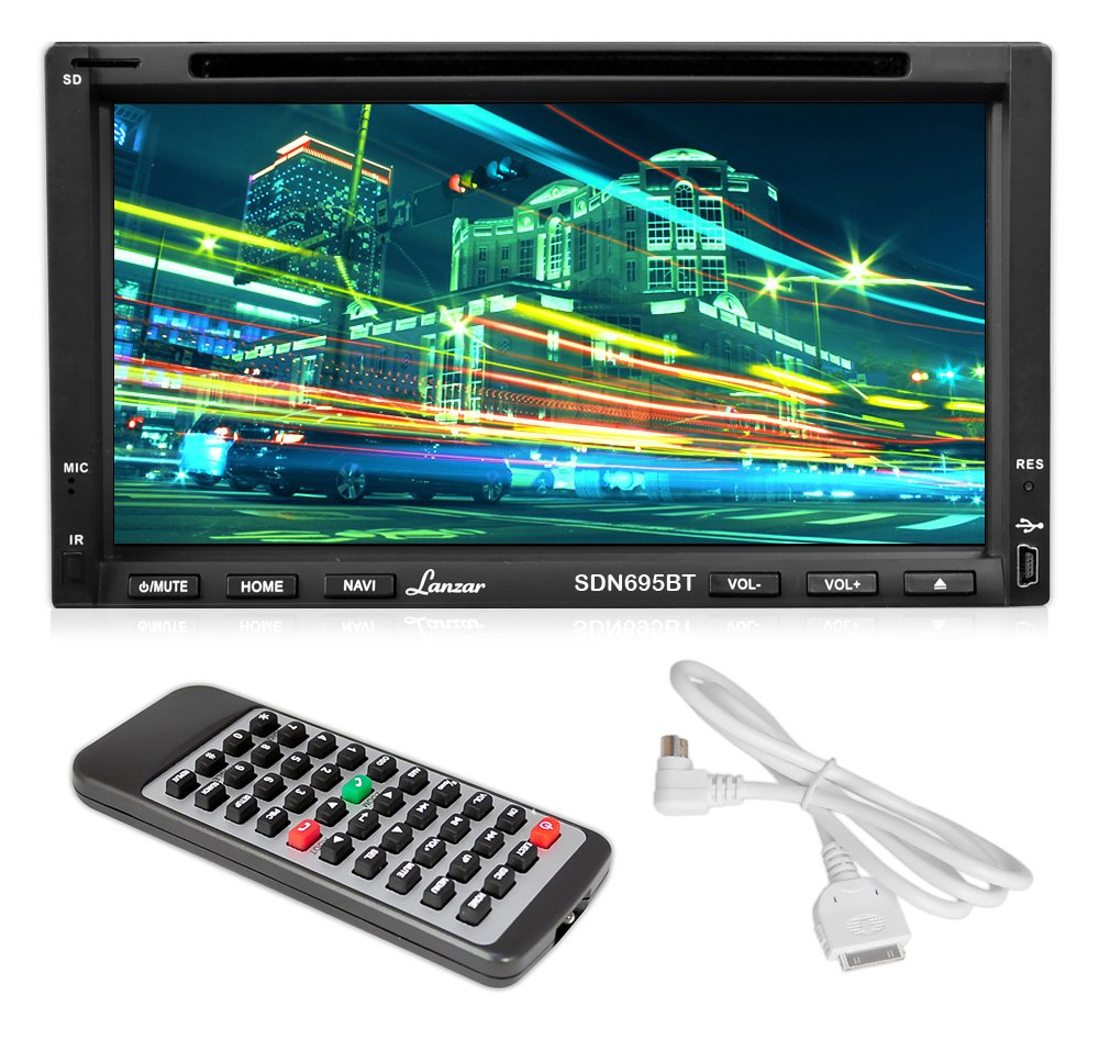Lanzar SDN695BT 6.95 inch Double-DIN Touchscreen Video DVD/MP4/MP3 ...