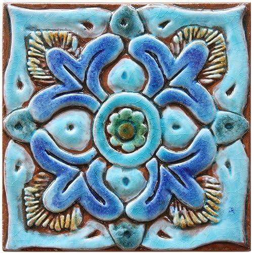 . Amazon com  Wall art ceramic tile 5 9  Decorative wall art tile in