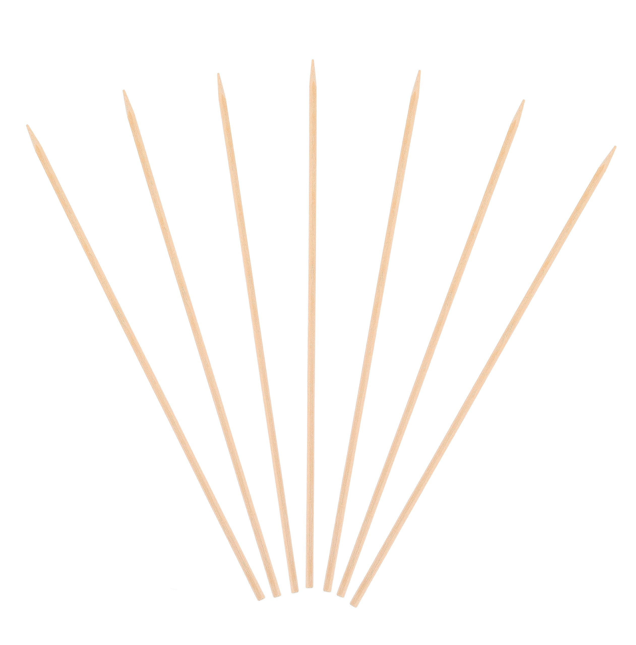 KingSeal Natural Birch Wood Skewers, Sticks - 10 Inches, 3.5mm diam, 1000 Count