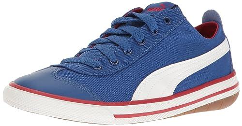 Zapatillas de skate PS 917 divertidas para ni?os, True Blue-Puma White, 3.5 M US Big Kid: Amazon.es: Zapatos y complementos