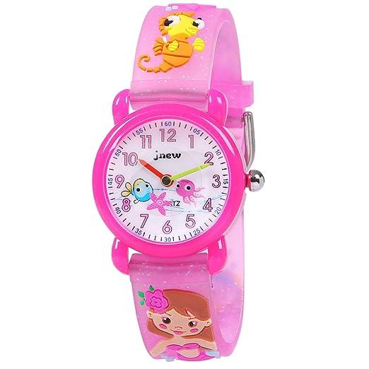 Hiwatch Relojes para Niños 3D Linda Cartón Impermeable Silicona Reloj de Pulsera de Cuarzo para Niños