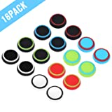 Obeka 8 Pairs Thumb Grips Silicone Analog Stick Covers Thumbstick Controller Replacement Joystick Cap Compatible PS4 PS3 PS2 Xbox One Xbox 360 Wii U - Assorted (Color: Upgraded Version)