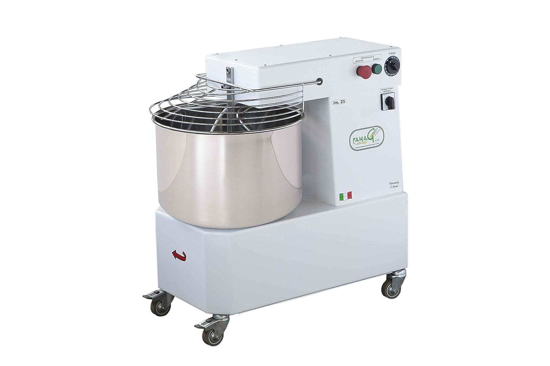 Famag máquina del PAN Pizza amasadora a espiral profesional 25 kg monofásico para pan, pizza, galletas, Panettone, repostería, para un uso casalingo o ...