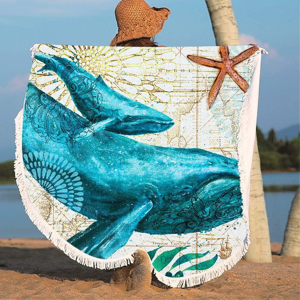 Microfibre Beach Throw Blankets Decorative Tapestries cactus SearchI Tassel Round Beach Towel Tassel Round Yoga Mat Picnic Mats Tablecloths Mandala