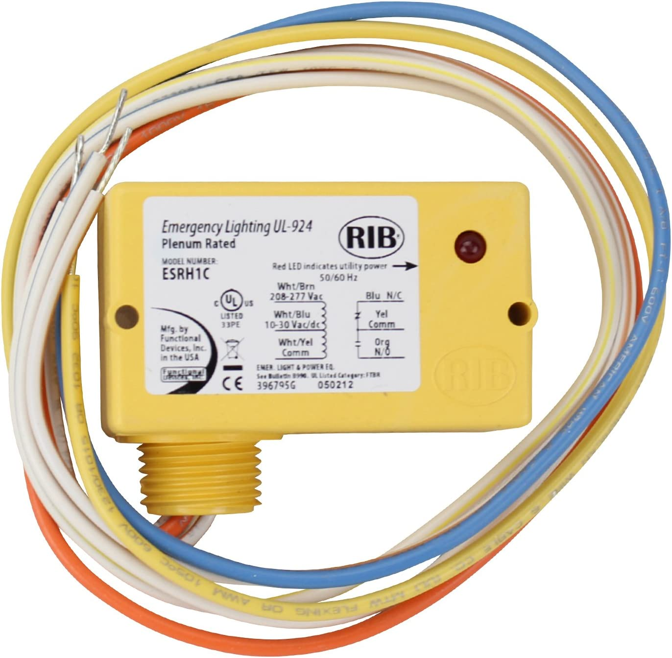 RIBL4C Enclosed Relays 10Amp 3 SPST-NO 1 SPDT 10-30Vac// RIB Functional Devices