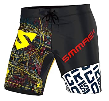 Smmash Mens Compression CrossFit Shorts GRAFFITI