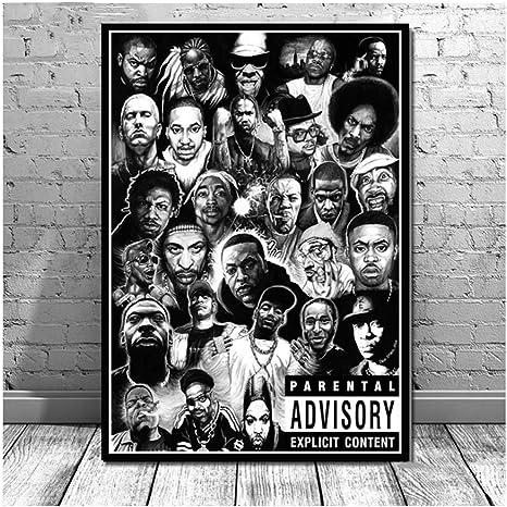 Amazon Com Suuyar 5stars Hip Hop Rapper Rap Music Star Poster Prints Clan Legends Painting Canvas Art Wall Pictures Living Room Home Decor 50x70cm No Frame Posters Prints