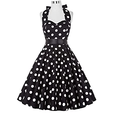 Summer Vestidos Retro 1950s 60s Vintage Dress s Pinup Rockabilly Big Size Sexy Halter Short s
