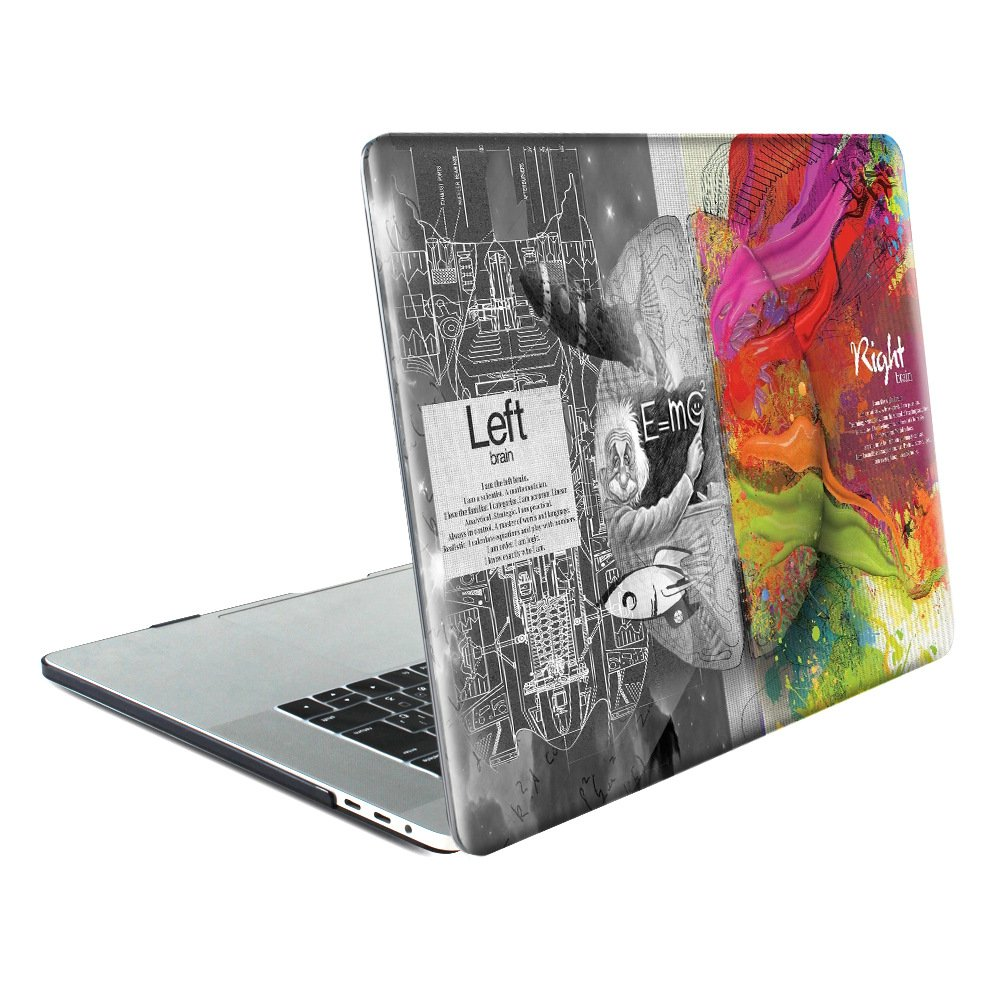 TwoL Carcasa MacBook Air 11,6 Pulgadas, Plástico Funda Dura Carcasa para MacBook Air 11 A1465/A1370 (Cerebro Creativo)