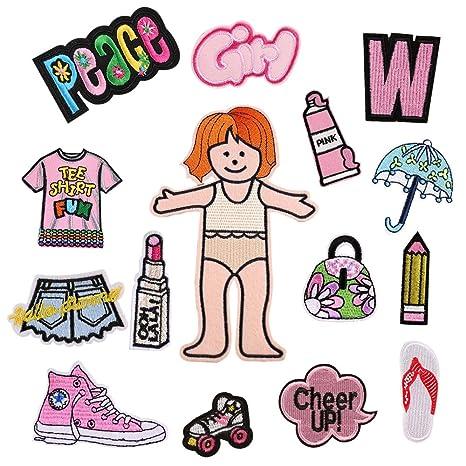 15 piezas de exquisitas pegatinas para ropa para niñas ...