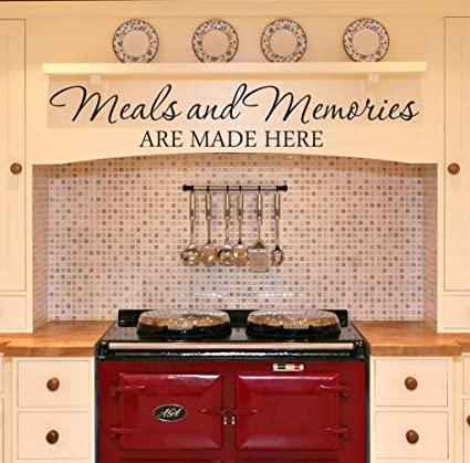 Amazon.com: Meals and Memories Wall Decal - 22\