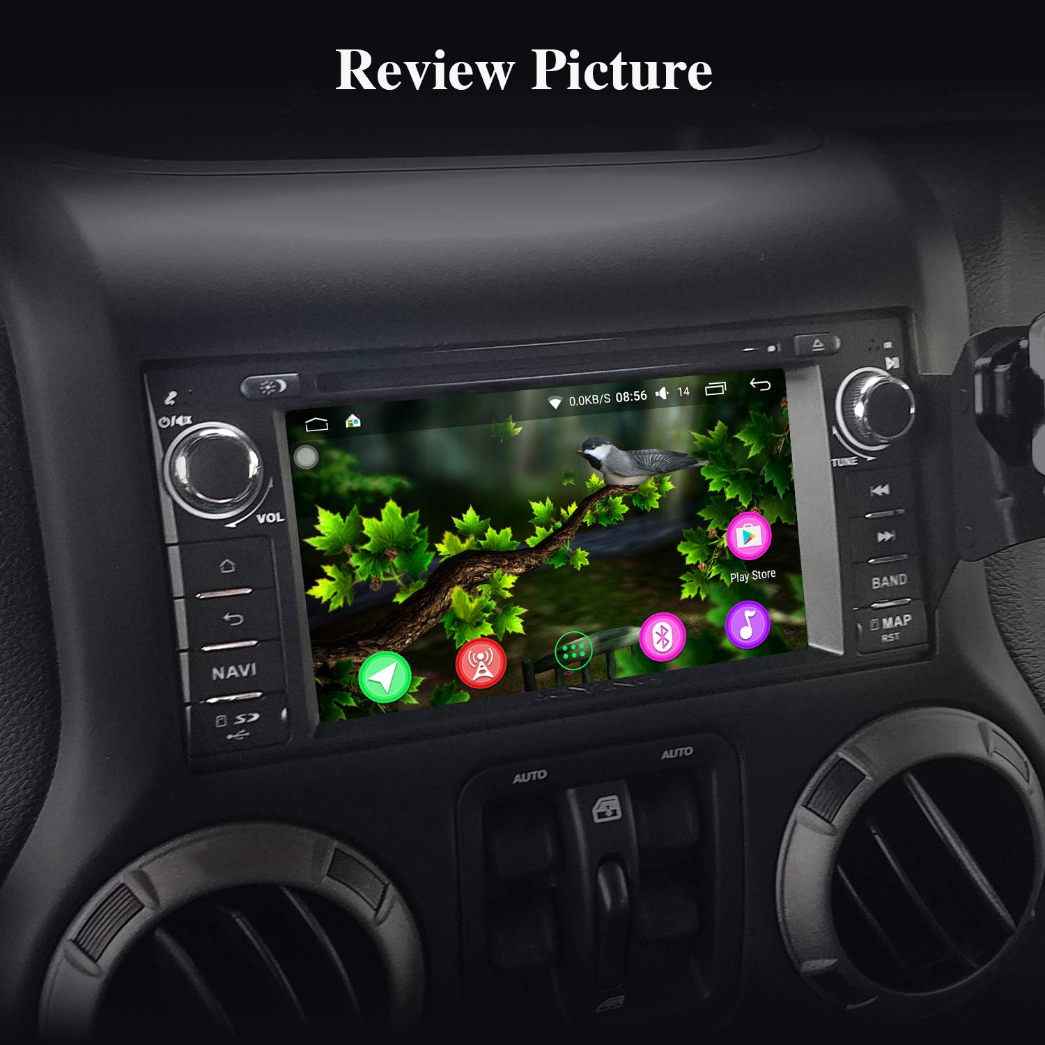 Car Stereo For Jeep Joying 62 Single Din Head Details About Chrysler Dodge Radio Wiring Harness Headunit Unit Android 81 4gb Ram 64gb Rom Challenger Wrangler Jk Cherokee