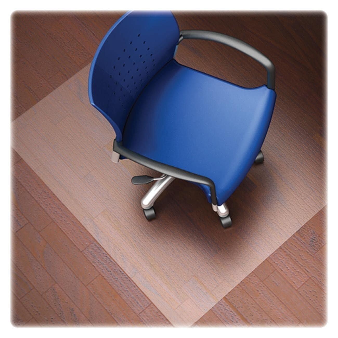 Lorell LLR82827 Nonstudded Design Hardwood Surface Chair Mat, 60x46 Inch