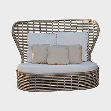 dafnedesign - divano-sofà de jardín - Dos Plazas, ancho: 107 ...