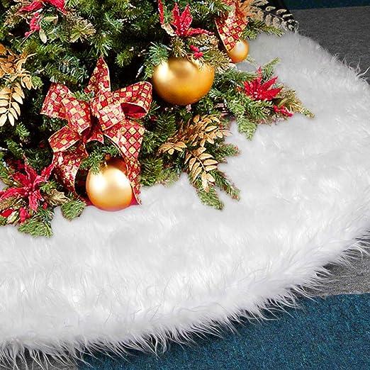 Falda de árbol de Navidad, AMAUK 35.4inches Adornos de falda de ...