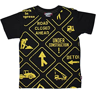 product image for City Threads Little Boys' Construction Signs Tee in Black (c)