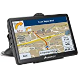 Car GPS navigation, 7-inch HD voice prompt system, Capacitive Touchscreen with Sunshade Spoken, 8GB gps navigator - Lifetime Map Updates (black)