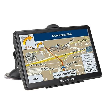 Coche GPS navegación, sistema de mensaje de voz HD 7 pulgadas, pantalla táctil capacitiva