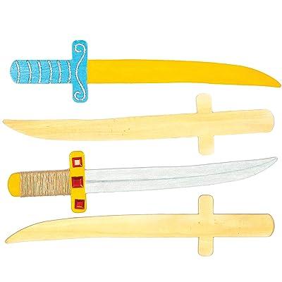 hot sale 2019 Baker Ross Wooden Ninja Swords for Children to