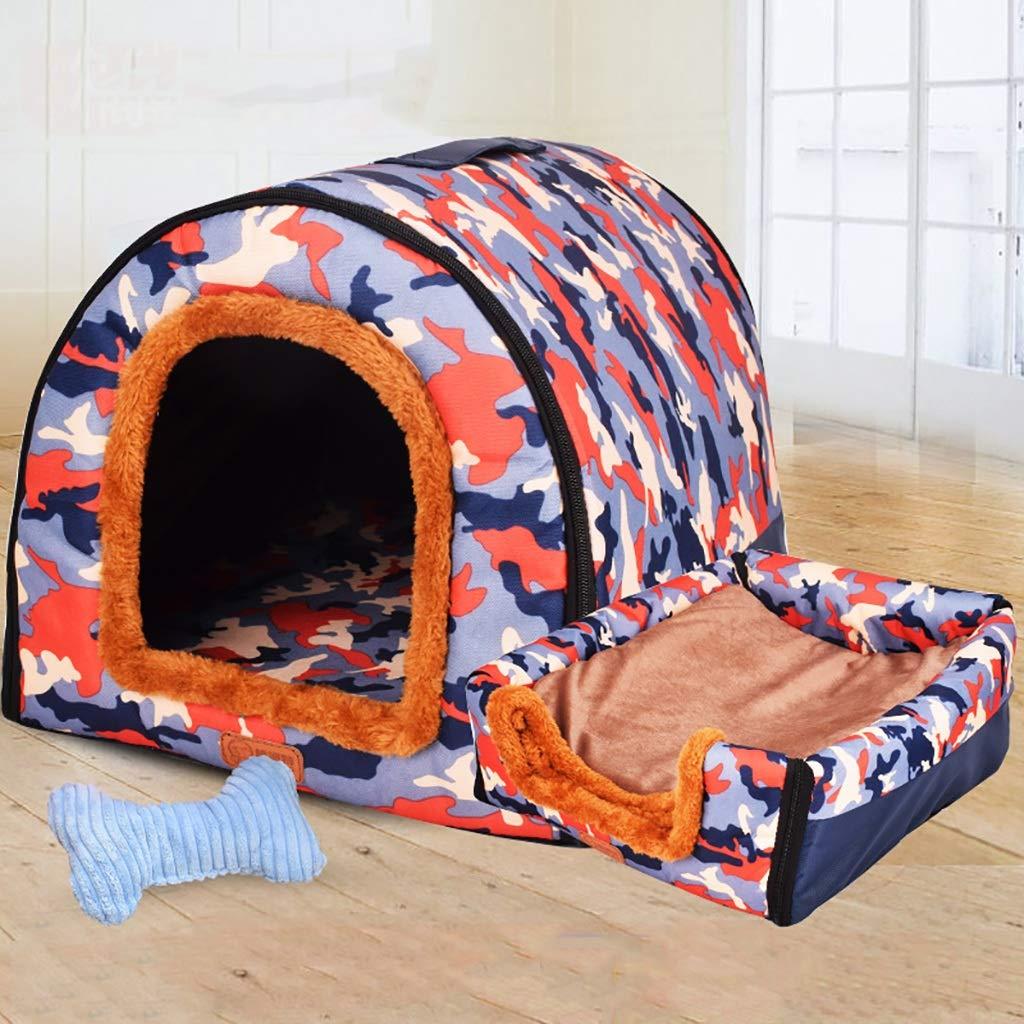 E M-4538cm E M-4538cm ZXCC Extra Large Kennel Washable Dog Kennel Pet Winter Warm Small Home (color   E, Size   M-45  38cm)