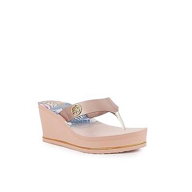 sports shoes 95934 1cd4b Guess Damen Sandalen Rosa/Gold n 38: Amazon.de: Schuhe ...