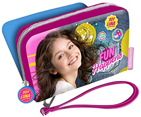 Karactermania Soy Luna Fun Happens Monedero, 12 cm, Morado