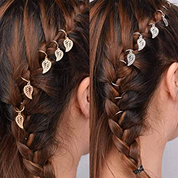 Vintage Leave Star Ring Charms Pendant Braid Hair Clip Hair Accessories 35Pcs US
