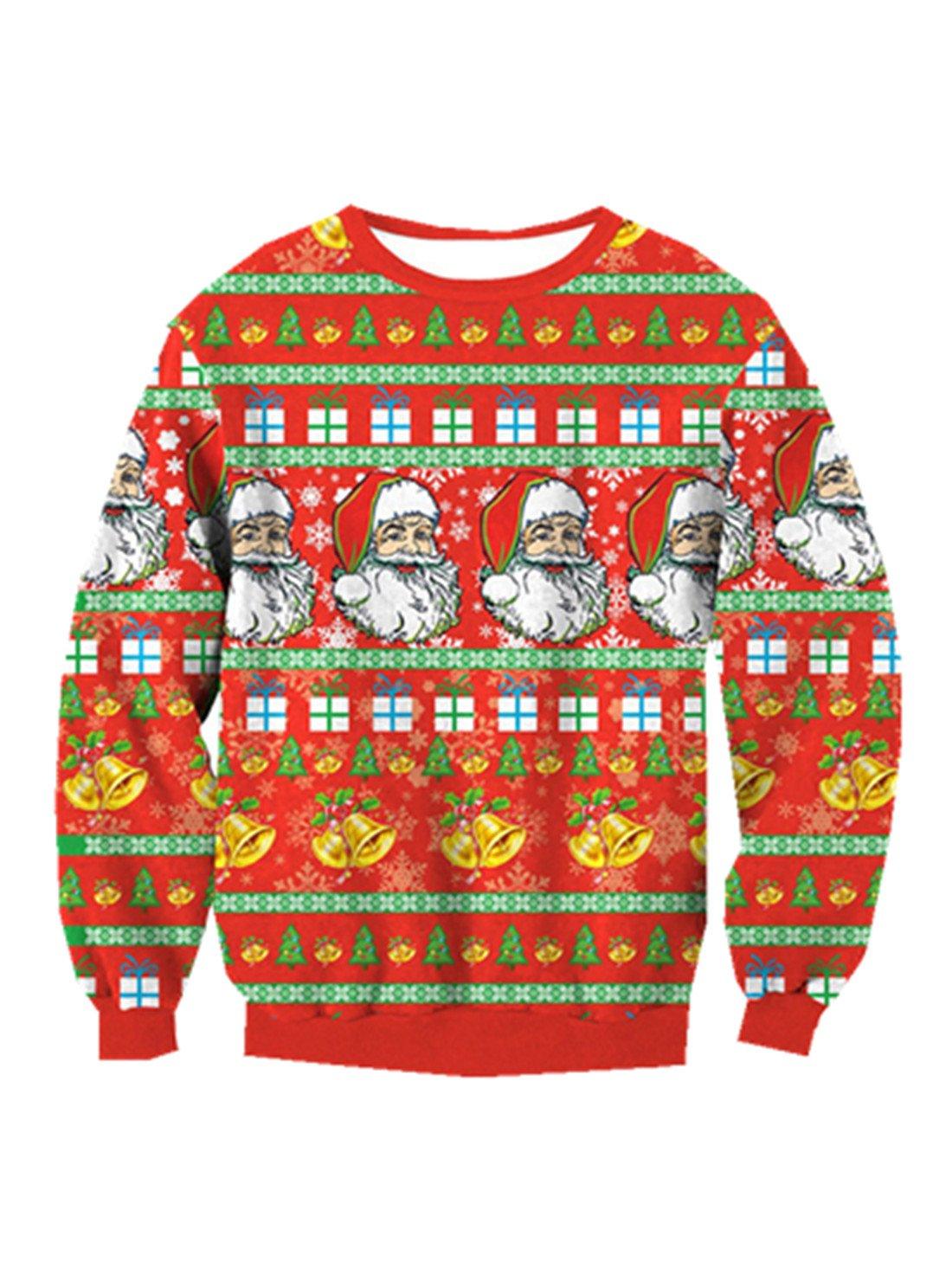 YICHUN - Camisas - suéter - para Mujer Verde Christmas 2# Talla única: Amazon.es: Ropa y accesorios