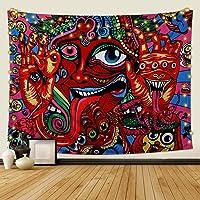 Dremisland Tapiz de Pared Psicodélico Arabesco Mandala Hippie Colgante de Pared Tapices de Patrón Retro Abstracto Tapiz…