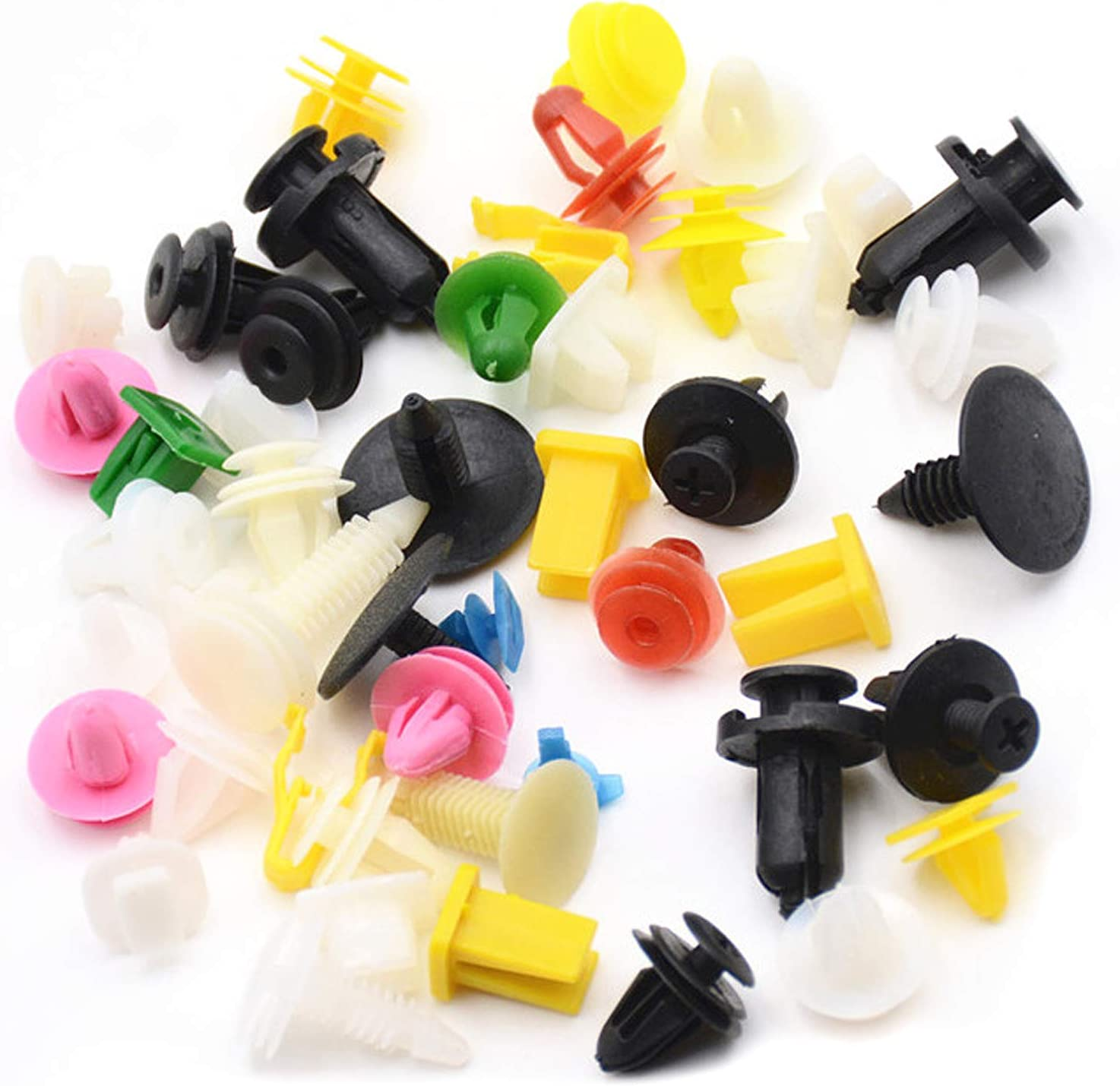 OTOTEC - Clips de plástico para Puerta de Coche, retenedor de Parachoques, Remaches de Tornillo para Panel de Empuje, Alrededor de 500 Unidades