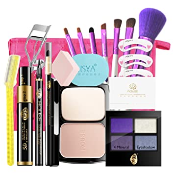 39d528d95df1 Amazon.com   Rouse Makeup Kits Fashionable Makeup Sets for Girls Women With  a Cosmetic Bag (Charming)   Beauty