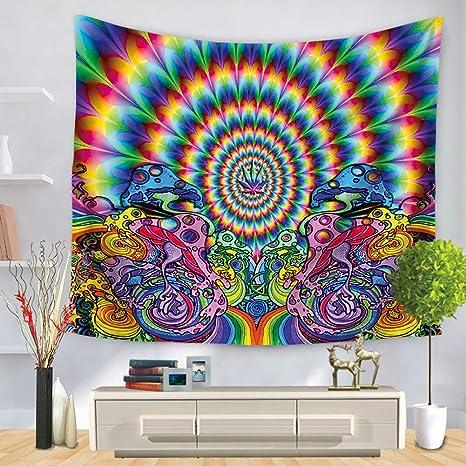 Hippie Tapisserie Wandteppich Wandbehang schwarz und weiß Matte Strandtuch