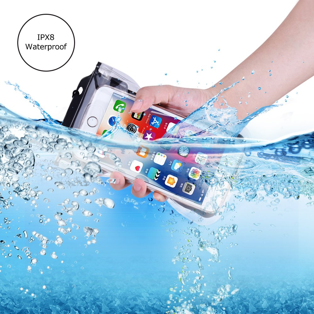 Waterproof Case, Floating SEGMART IPX8 Waterproof Phone Pouch Underwater Dry Bag for iPhone X/8/8P/7/7P/6P/6S; Galaxy S9/S9P/S8/Note 8; Google Pixel/Pixel Plus(clear) by SEGMART (Image #3)