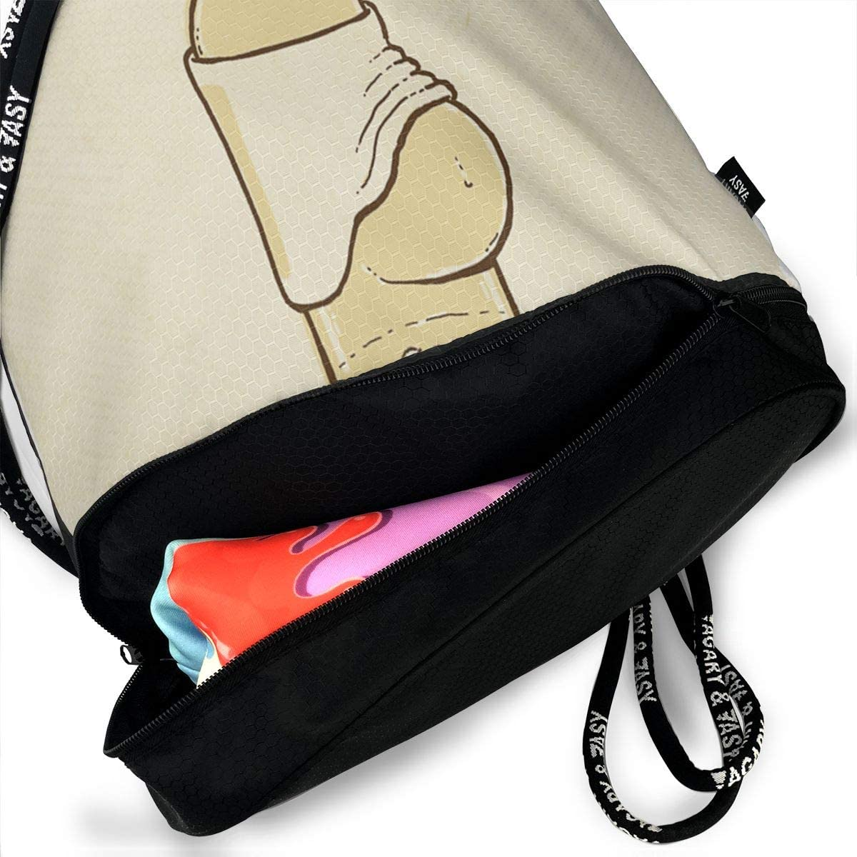 Fashion Outdoor Zipper Drawstring Bag Funny Beer Printed Bundle Backpack for Men Women Unisex Multi-Function Backpack