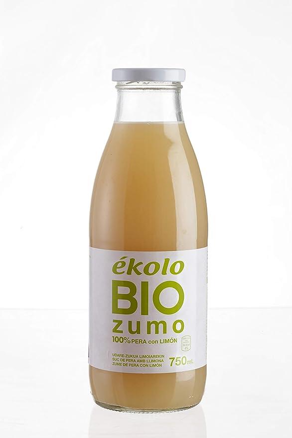 EKOLO Zumo De Pera Limón Ecológico, 100% Exprimido, 6 Botellas 750Ml 4500 ml (68437010011261): Amazon.es: Alimentación y bebidas