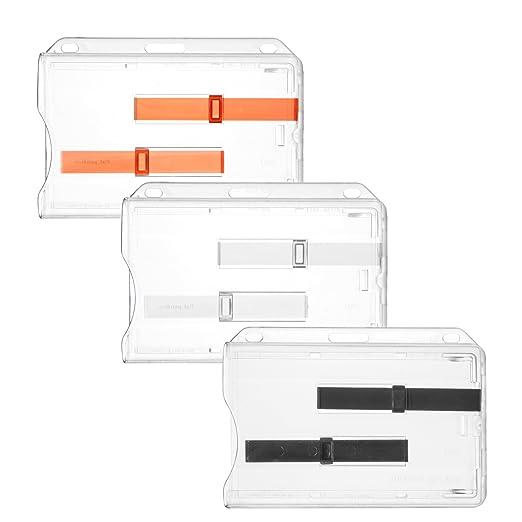 2 opinioni per Karteo®Porta badge Porta cartellino involucro protettivo per 2 badge con fessura